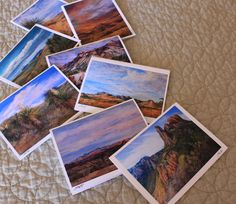 Big Bend Artist large frameable cards from landscape paintings of Far West Texas by Lindy C Severns | $10 each includes shipping  | http://shop.oldspanishtrailstudio.com #stocking stuffers #fineart #stationery #farwesttexas #freeshipping #uniquetexasgifts #christmasgifts