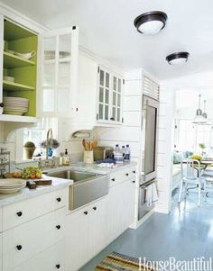 Add character to a simple white kitchen...