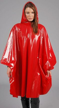 8f9698e0e89684 Real fashion Red Raincoat, Raincoat Jacket, Rain Jacket, Hooded Poncho,  Hooded Dress