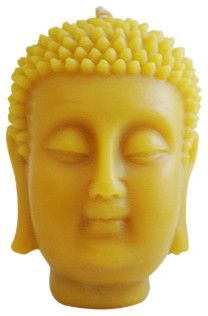 Beeswax Buddha Candle asian candles and candle holders