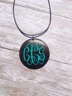 A personal favorite from my Etsy shop https://www.etsy.com/listing/228866334/wooden-pendant-monogram-necklace