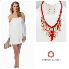 Un look veraniego  Disponible: Collar largo con corales  Contactanos : 809 853 3250 / 809 405 5555 Pagos a través de Paypal  Delivery  Envoltura disponible   #newarrivals #available #newcollection #necklace #collar #coral #fancy #accesories #jewelry #chic #trendy #delicate #precious #glam #gorgeous #unique #fancy #pretty #complementosjewelry #complementosrd #lookcomplementosrd #byou #becomplete