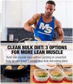 Build lean muscle mass without packing on unwanted body fat. This article presents three sample lean bulk diet eating plan options that can help you reach your goals. Bulking Meals, Bulking Diet, Bodybuilding Nutrition, Bodybuilding Recipes, Female Bodybuilding, Bodybuilding Workouts, Mass Gain Diet, Clean Bulk Diet, Clean Bulk Meal Plan