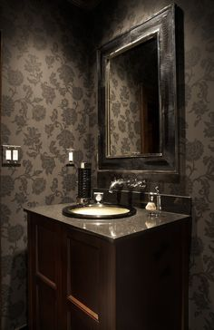 Happy Halloween! Thought this Cigar Room bathroom was fun to share with you today...