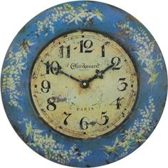Special Offers - Roger Lascelles French Tin Wall Clock Lily Design 14.2-Inch - In stock & Free Shipping. You can save more money! Check It (August 11 2016 at 02:46PM) >> http://wallclockusa.net/roger-lascelles-french-tin-wall-clock-lily-design-14-2-inch/