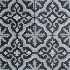 Cement Tile Shop - Encaustic Cement Tile Bordeaux IX - x Bathroom Inspiration, Home Decor Inspiration, Laundry In Bathroom, Bathroom Kids, Bathrooms, Basement Bathroom, Small Bathroom, House Viewing, Cement Crafts