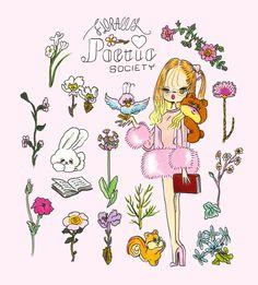 """Sweet Nothings"" by foxy illustrations Unicorns And Mermaids, Pastel Grunge, Cute Kawaii Drawings, Sweet Nothings, Planner, Cute Quotes, Pattern Wallpaper, Illustration Art, Illustrations"