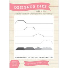 Carta Bella Dies Quickly and easily die-cut shapes from patterned paper…