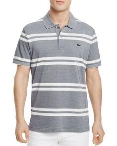 9f4e11769ca24 Lacoste Stripe Regular Fit Polo - 100% Exclusive Listras, Moda Masculina,  Os 100