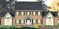 Adam - Federal House Plan with 2256 Square Feet and 4 Bedrooms from Dream Home Source | House Plan Code DHSW72936