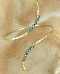 Custom Crystal Upper Arm Cuff  Arm Cuff  by beadifulexpressions, $27.00