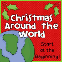Christmas Around the World - plural nouns center, research, reindeer facts center, syllable task cards, and a FREEBIE for you.  (paid)
