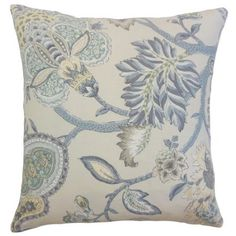 The Pillow Collection Liora Floral Throw Pillow Cover