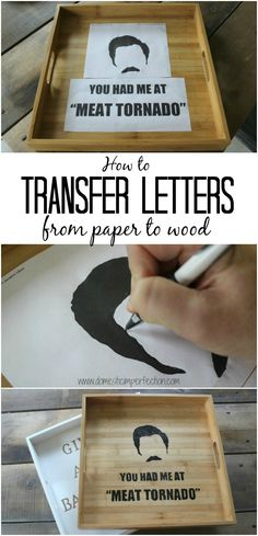 Simple way to transfer letters from paper to wood, no extra supplies or expensive cutting machines needed!