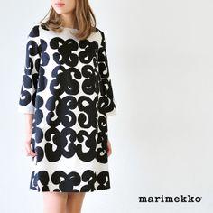 【楽天市場】marimekko マリメッコ ISO TARHA イソ タルハ/TAIMA 3/4スリーブワンピース・5243140455(全2色)(S・M・L)【2014春夏】:Crouka(クローカ)