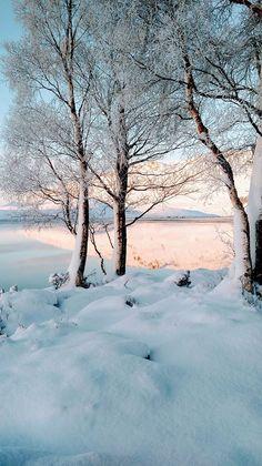The snowy banks of Loch Tarf, Scotland