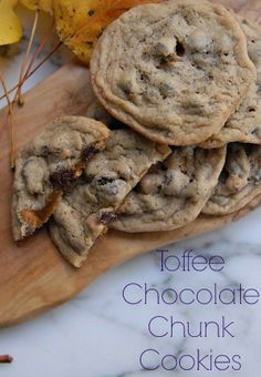 Chewy toffee chip cookies