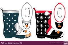 MOCK-UP EXAMPLES - Unisex-Childrens-HOLIDAY Novelty-Wellingtons
