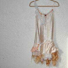 romantic upcycled dress