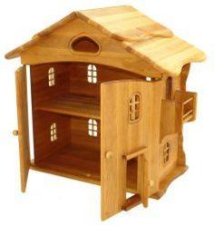 Marthas største ønske- dette dukkehus... Puppenhaus-mit-Tuer-Drewart