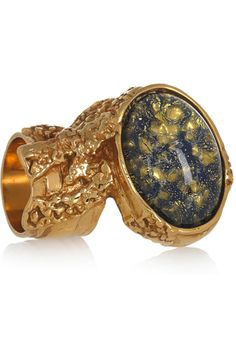 Pin ItYSL Arty Gold-Plated Glass Ring, $290, available at Net-A-Porter.