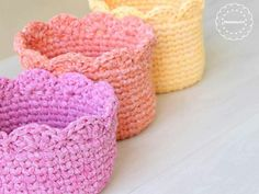 crochet round basket סלסלת טריקו עגולה by MalkishuArt