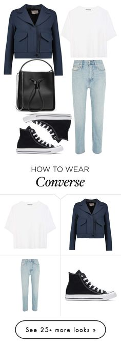 """Без названия #305"" by lachasseauxpapillons on Polyvore featuring Madewell, Vince, Converse, Sandro, 3.1 Phillip Lim, converse, casualoutfit, summerstyle, CasualChic and DenimStyle"
