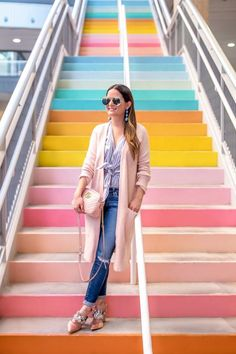 Sugar and Cloth Rainbow Stairs Houston