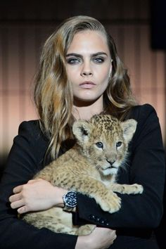 Cara Delevingne Models With A Lion For Tag Heuer