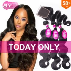 Brazillian Body Wave With Closure 8A Grade Rosa Hair Products 3/4 Bundles Wet And Wavy Brazilian Human Hair With Closure
