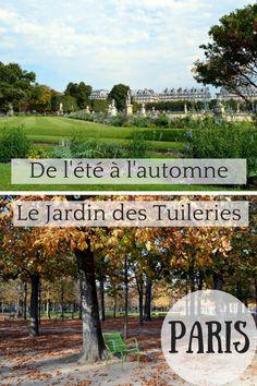 Série de photo : l'été et l'automne au Jardin des Tuileries (Paris)