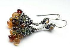 """Handmade earrings.  Fair Masters - handmade earrings """"Sentyabrina.""""  Handmade."""