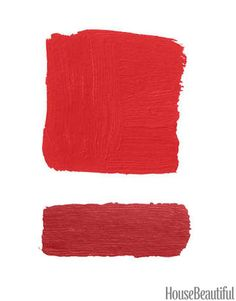 Sherwin-Williams Heartthrob SW 6866; Tanager SW 6601 red color combination.