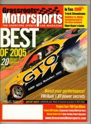 Grassroots Motorsports Car Magazine February 2006 Racing SCCA