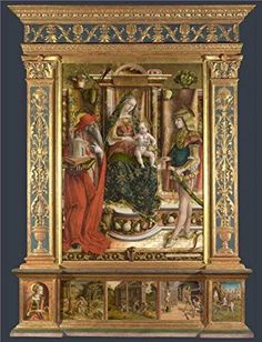 The Perfect Effect Canvas Of Oil Painting Carlo CrivelliAltarpiece From S Francesco Dei ZoccolantiMatelicaafter 1490 size 16x21 Inch  41x53 Cm this Beautiful Art Decorative Canvas Prints Is Fit For Game Room Gallery Art And Home Decoration And Gifts