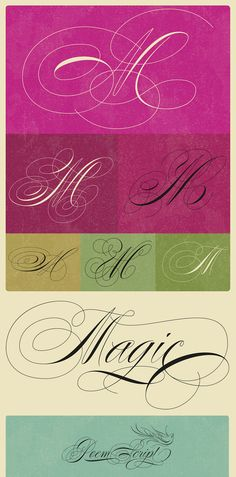Poem Script typeface by Ale Paul
