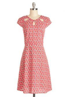 Fete with Friends Dress. You and your friends agree on everything - from which restaurant to go to this evening to how adorable you look in this Mata Traders cotton dress! #red #modcloth