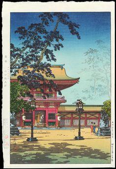 Koitsu, Tsuchiya (1870-1949) - Kyushu Hakozaki Hachimangu Shrine - 九州 箱崎八幡宮