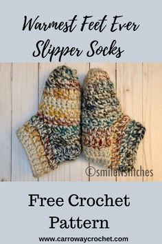 Easy Crochet Slippers, Crochet Slipper Boots, Crochet Slipper Pattern, Slipper Socks, Crochet Gratis, Free Crochet, Knit Crochet, Crochet Stitches, Crochet For Beginners