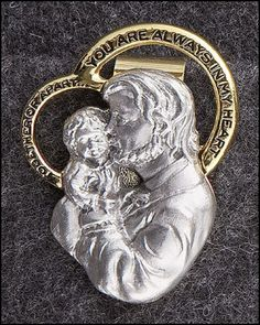 1 3//4 Inch Pewter Religious Serenity Prayer Praying Hands Auto Visor Clip Accessories