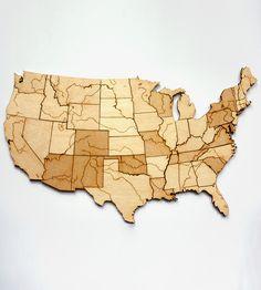 Rivers & Lakes Magnetic Wood USA Puzzle | Art Pieces | Steven Mattern Design + Build | Scoutmob Shoppe | Product Detail