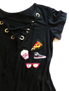 Resultado de imagem para vestido com patches