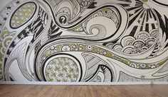 """Major Lazor""/Lex Wilson has translated his zentangle moleskine piece into a mural.  Isn't it fabulous?!"