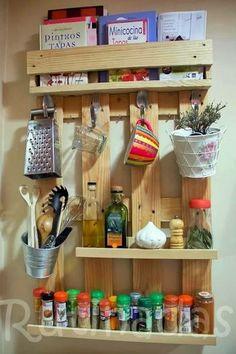 Almacenaje cocina con palets