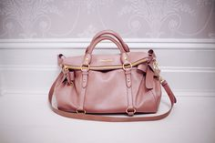 dusky rose: miu miu bow satchel