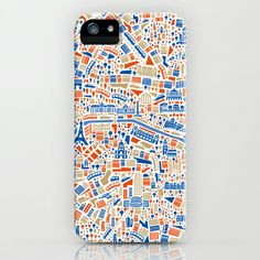 Paris City Map Poster iPhone & iPod Case by Vianina - $35.00