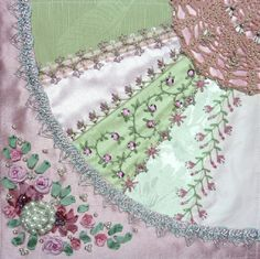 I ❤ crazy quilting, beading & ribbon embroidery . . . Gorgeous February 2013 CQJP Block ~By Susie W