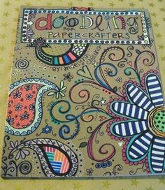 Doodling idea book for Paper Crafting, Scrapbooking, Card Making, artistic writing. $5.00, via Etsy.