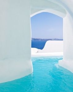 Canaves Oia Hotel  ( Santorini, Greece )  Honeymoon Suites are built for romance — case in point: the outdoor Jacuzzi. #Jetsetter #JSVolcano