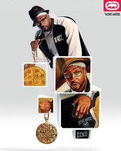 Back in '02, Ghostface Killah lettin' his chain hang and reppin' for Ecko.